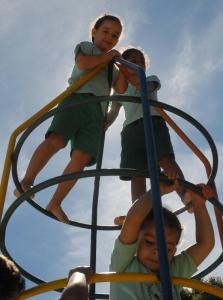 Crianças em creche em Ceilândia, no Distrito Federal. Foto de Antônio Cruz para Agência Brasil. Alguns direitos reservados.